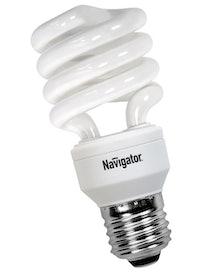 Лампа энергосберегающая Navigator, спираль, E27 х 25 Вт, холодный свет