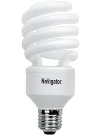 Лампа энергосберегающая Navigator, спираль, E27 х 30 Вт, теплый свет