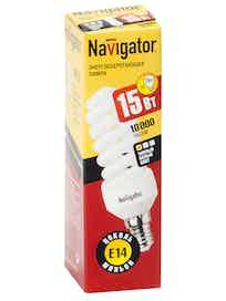 Лампа энергосберегающая Navigator спираль, 11Вт х E14, теплый