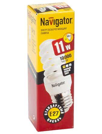 Лампа эн-сбер.Navigator спир11W,E27,теп.