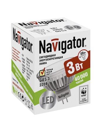 Лампа LED Navigator MR16 3W GU5.3