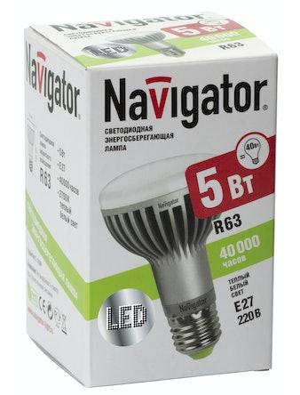 Лампа LED Navigator R63,5w,230,E27,т/с