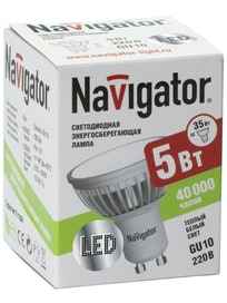 Лампа LED Navigator MR16 5W 230V GU5.3