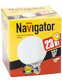 Лампа энергосберегающая Navigator шар, 23Вт х E27