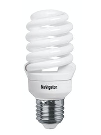 Лампа энергосберегающая Navigator, спираль, E27 х 20 Вт, теплый свет