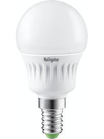 Лампа LED Navigator шарик 7W,E14,тепл