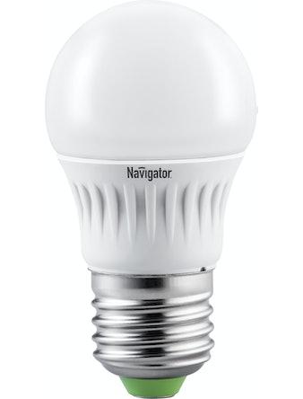 Лампа LED Navigator шарик,7W,E27,тепл