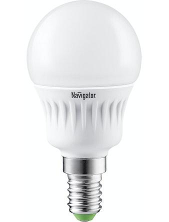 Лампа LED Navigator шарик,7W,E14,хол