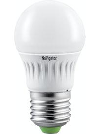 Лампа LED Navigator шарик,7W,E27,хол