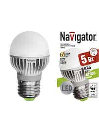 Лампа LED Navigator шарик,5W,E27,тепл