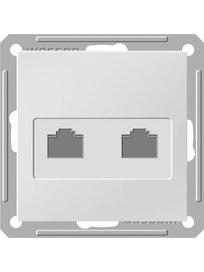 Розетка компьютерная Wessen 59, двойная, белая