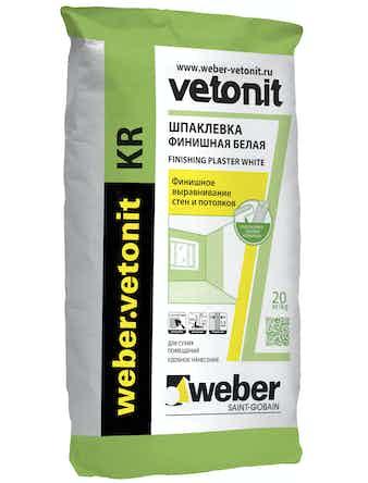 Шпаклевка финишная Weber.Vetonit КР 20 кг