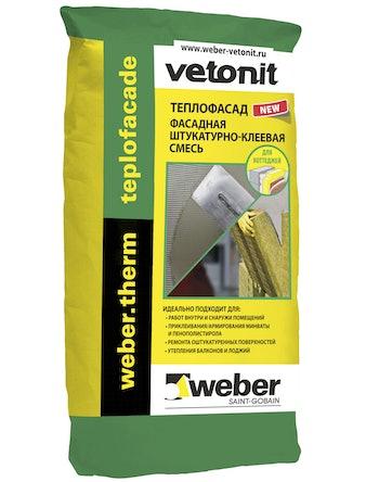 Штукатурно-клеевая смесь Weber Vetonit Teplofacade, 20 кг