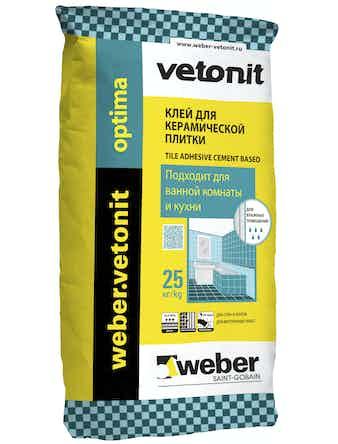 Клей плиточный Weber.Vetonit Оптима 25 кг