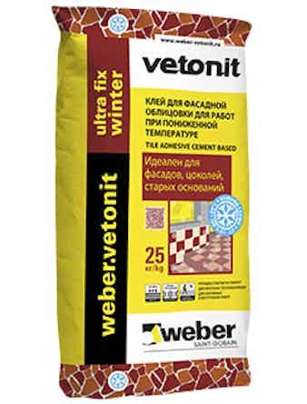 Клей Weber.Vetonit Ultra Fix Winter 25 кг