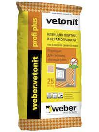 Клей плиточный Weber.Vetonit Profi+ 25 кг
