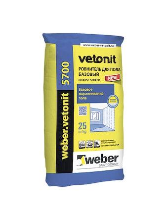 Ровнитель Weber.Vetonit 5700 25 кг