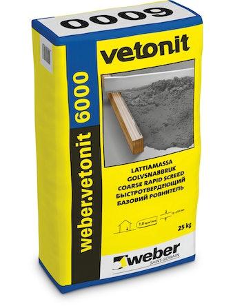 Ровнитель для пола Weber.Vetonit 6000 25 кг
