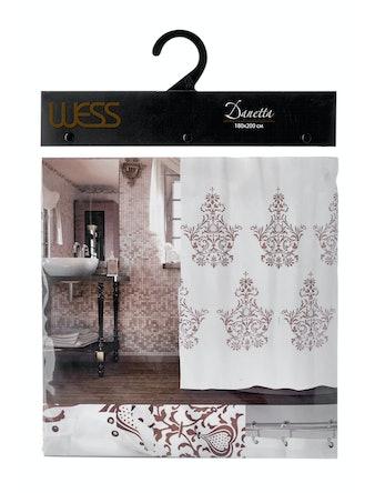 Штора для ванной комнаты Wess Danetta T559-6, 180 х 200 см