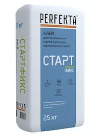 Клей для керамической плитки и керамогранита на пол Perfekta Стартфикс, 25 кг