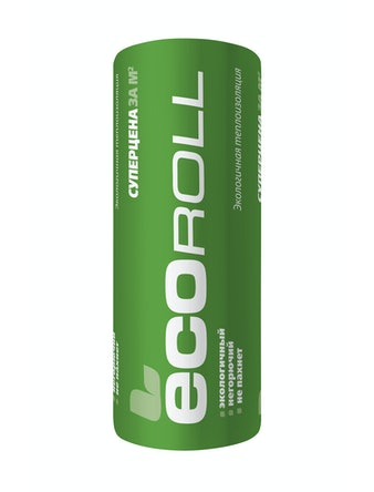 Теплоизоляция минеральная Ecoroll TR044, рулон 122 х 680 х 5 см, 16,6 м2