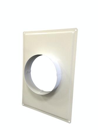 Фланец металлический белый d=150 мм 10787
