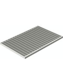 Решетка придверная, стальная оцинкованная, 39 х 59 х 0,2 см