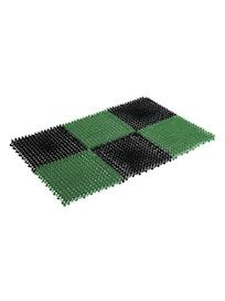 Коврик Травка, чёрно-зеленый, 42 х 56 см