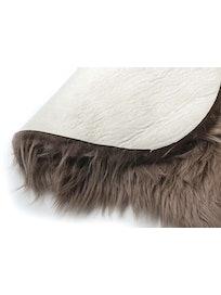 Шкура овечья, искусственная, коричневая, 55 х 90 см