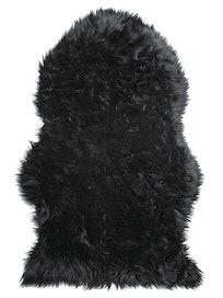 Шкура овечья, искусственная, черная, 55 х 90 см