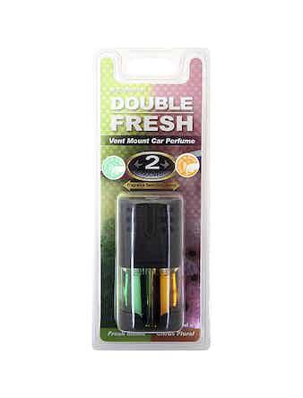 Ароматизатор воздуха на дефлектор DoubleFresh дыня-апельсин