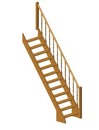 Лестница без тонировки № 12
