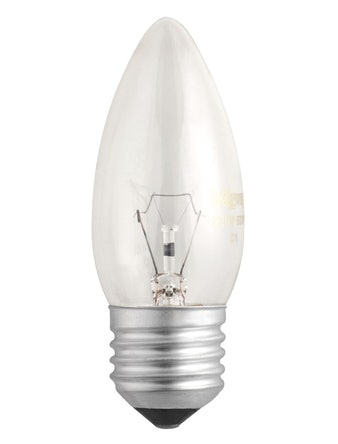 Лампа накал. Jazzway свеча 60W,Е27,прозр