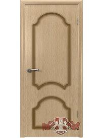 Дверное полотно Кристалл ПГ шпон, светлый дуб, 600 х 37 х 2000 мм