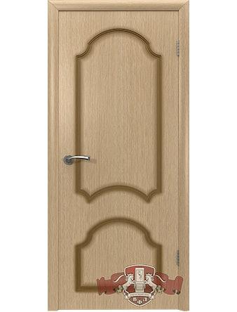 Дверное полотно Кристалл ПГ шпон, светлый дуб, 700 х 37 х 2000 мм