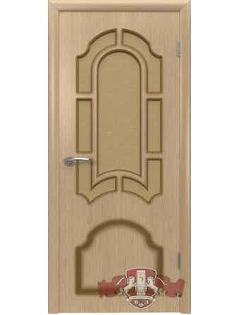 Дверное полотно Кристалл ПО шпон, светлый дуб, 800 х 37 х 2000 мм