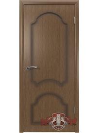 Дверное полотно Кристалл ПГ шпон, орех, 700 х 37 х 2000 мм