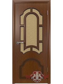 Дверное полотно Кристалл ПО шпон, орех, 700 х 37 х 2000 мм