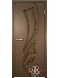 Дверное полотно Лилия ПГ шпон, цвет орех, 600 х 37 х 2000 мм