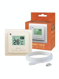 Терморегулятор электронный Национальный комфорт ТР 711, кремовый