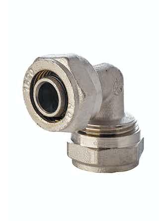 Угольник для металлопластиковых труб Aquapex, ц/ц, 20 х 20 мм