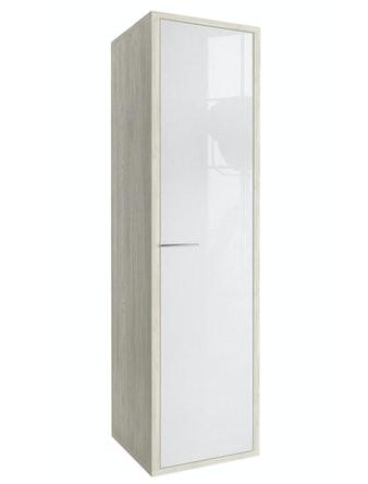 Пенал EFP Марино, универсальный, беленый дуб/белый