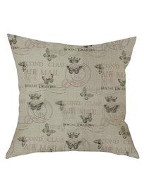 Подушка декоративная Бабочки, лен, 40 х 40 см