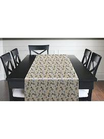 Дорожка для стола Лаванда, лен, 0,4 х 1,5 м