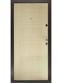 Дверь металлическая Комфорт Беленый дуб, правая, 960 х 2050 мм
