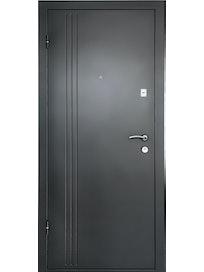 Дверь металлическая ДК Лайн 1, беленый дуб, 960 х 2050 мм, левая