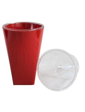 Кашпо Бриз 1,5 л d13, красный