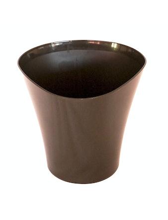 Кашпо Волна 0,6л d12, темныйный шоколад