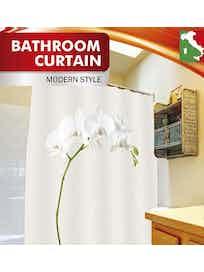 Занавеска для ванной Fora Белая орхидея