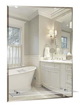 Зеркало с полкой Модерн-люкс, 40 x 5 x 60 см